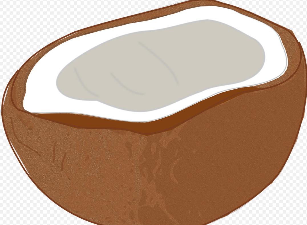 hnědý kokos