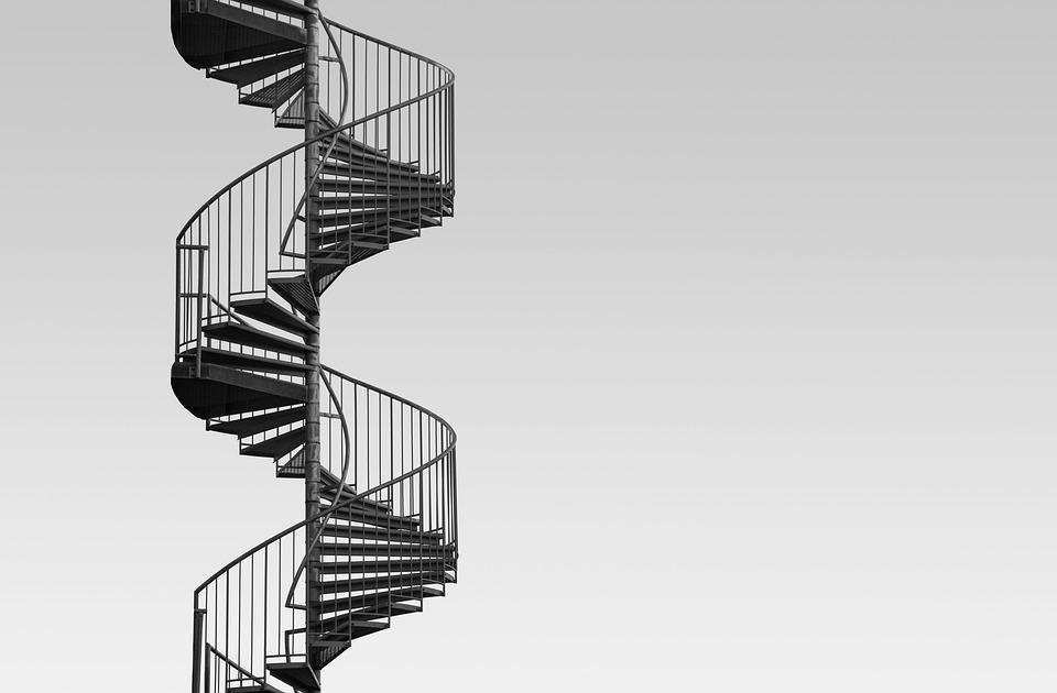 ocelové točité schody